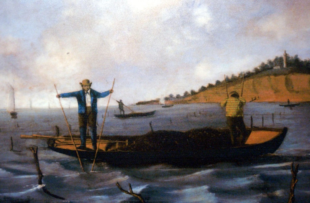 Figure 1 - Matthew, Alex. (1853). Oystering at Prince's Bay. Staten Island Historical Society.